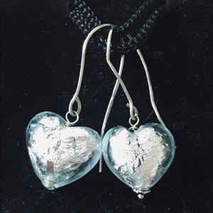 Tiffany Blue Heart Earrings
